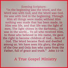 "Evening Scripture: ""In the beginning was the Word, and the Word was with God, and the Word was God. He was with God in the beginning. Through Him all things were made;  .""  John 1:1-14 #eveningscripture #christmas #savior #scripturequote #biblequote #instabible #instaquote #quote #seekgod #godsword #godislove #gospel #jesus #jesussaves #teamjesus #LHBK #youthministry #preach #testify #pray #rollin4Christ #atruegospelministry"