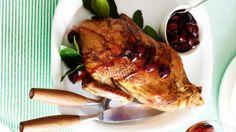 Christmas Dinner 2013 - Roast duck with cherry sauce