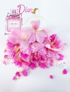 Miss Dior Blooming Bouquet -- Grace Ciao Illustration Grace Ciao, Arte Fashion, Floral Fashion, Trendy Fashion, Arte Floral, Flower Petals, Flower Art, Miss Dior Blooming Bouquet, Floral Illustrations