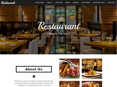 Take a look at Restaurant – Restaurant Cafe HTML5 Bootstrap Template with Bootstrap 3, HTML5, CSS3 and jQuery! The Bootstrap template is designed with elegant, responsive, one page restaurant website template. Morever, it's also a clean and professional design, comes with awesome jQuery effects and CSS animations.  If you have a great restaurant with awesome foods or have a catering business, we guarantee you that your sells will increase and your website will make an impressive look for…