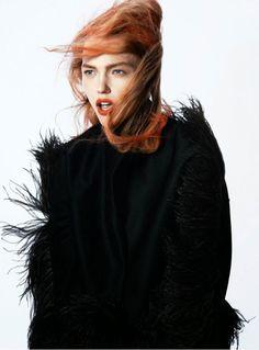 Sasha Pivovarova David Sims Vogue Paris
