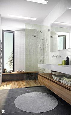 Średnia łazienka w domu jednorodzinnym z oknem, styl nowoczesny - zdjęcie od Zibi_C
