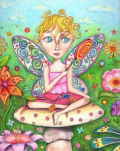 Whimsical fairy art → http://www.art-is-fun.com/whimsical-art.html