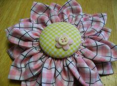 Kanzashi Fabric Flower PDF Tutorial ... Make by SundayGirlDesigns, $6.00