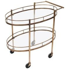 Mid-Century Serving or Bar Cart/Trolley, France, circa 1960 | From a unique collection of antique and modern bar carts at https://www.1stdibs.com/furniture/tables/bar-carts/