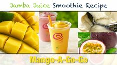 The Jamba Juice Mango-A-Go-Go Smoothie celebrates the most widely consumed fruit in the world: the mango! This recipe will show you how to make one. Jamba Juice Recipes, Protein Smoothie Recipes, Smoothie Prep, Smoothie Ingredients, Smoothie Bowl, Smoothies, Vitamix Recipes, How To Make Drinks, Food To Make