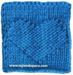 Cómo tejer un cuadrado con corazón en relieve en dos agujas o palitos! Knit Purl Stitches, How To Purl Knit, Loom Knitting, Knitting Designs, Knitted Hats, Knit Crochet, Creations, Arts And Crafts, Accessories