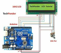 Connecting a character LCD to an Arduino Coding Color