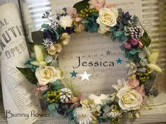 プリザーブドフラワ-リース preseeved flower ★ http://item.rakuten.co.jp/bunny-flower