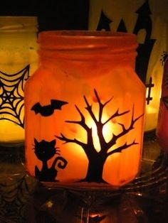 Halloween crafts from a jar