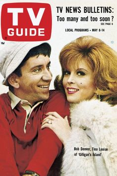 """TV Guide: May 1965 - Bob Denver and Tina Louise of """"Gilligan's Island"""" Archie Comics, Guide Tv, Emission Tv, Tina Louise, Vintage Television, Tv Land, Old Tv Shows, 1960s Tv Shows, Vintage Tv"""