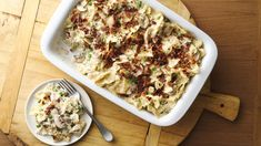 Looking for a wonderful recipe made using pasta and sweet peas? Then check out this delicious chicken for dinner that's sprinkled with bacon and cheese. Chicken Bacon, Rotisserie Chicken, Baked Chicken, Chicken Recipes, Turkey Recipes, Smothered Chicken, Chicken Ideas, Bacon Recipes, Chicken Casserole
