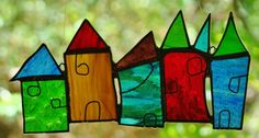 COLOURFUL BEACH HUTS MORNINGTON PENNINSULA VICTORIA Stained Glass Art Suncatcher FREE SHIPPING $49