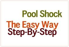 How to Use Pool Shock to Purify Water If I were to ask how many of you store liquid bleach along with your other prepping supplies, I am certain that a good percentage of you would raise your h