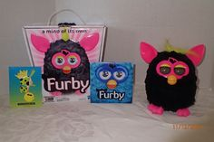 Furby Punky Pink Hasbro 2012 Interactive Electronic Pet Toy Black Hot Pink Box  #Hasbro