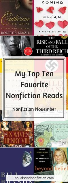 I put together my Top Ten Favorite Nonfiction Reads of all time (to date) for #NonfictionNovember , divided into 4 categories of nonfiction I typically gravitate toward.