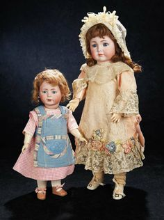 Rare German Bisque Character, 1489, by Simon and Halbig with Toddler Body 1200/1700