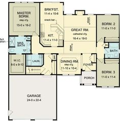 House Plan 54073 at FamilyHomePlans.com