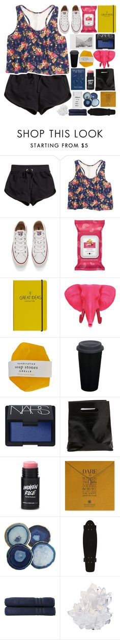 """IM TECHNICALLY SINGLE EMOTIONALLY UNAVALIBLE  {life update}"" by endlxss-dreamz ❤ liked on Polyvore featuring H&M, Converse, Happy Jackson, Polaroid, ZENTS, NARS Cosmetics, Marie Turnor, Dogeared, Linum Home Textiles and McCoy Design"
