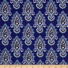 From Michael Miller Fabrics, this cotton print collection features a motley of bold, beautiful colors, and bohemian and abstract prints. Perfect for quilting, apparel, and home decor accents. Colors include shades of purplish-blue, teal, black, and white.