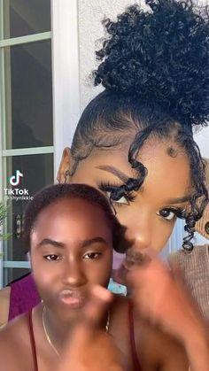 Natural Quick Hairstyles, Natural Hair Buns, Black Women Natural Hairstyles, Easy Black Hairstyles, Natural Hair Bun Styles, Hair Ponytail Styles, Natural Hair Styles For Black Women, African Braids Hairstyles, Baddie Hairstyles