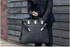 Black Mens Hermes Bag, Men's Fall Winter Fashion.