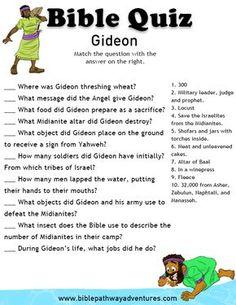 Printable bible quiz - Gideon