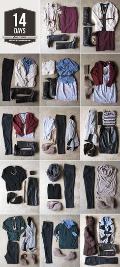 Strategically pack only 13 items to last for a 14 day vacations