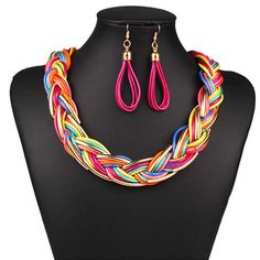 Jewelry Gift Sets,  with Waxed Nylon Cord.