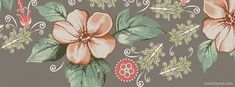 facebook cover photos vintage flowers - Google Search