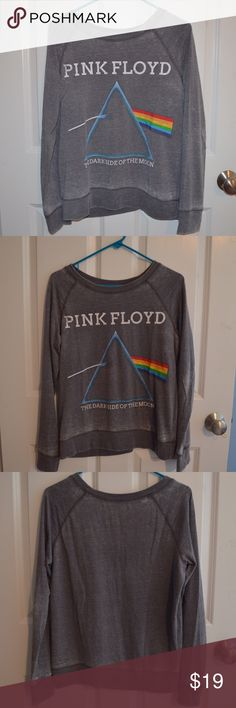 Pink Floyd Sweatshirt/Crewneck Great for Pink Floyd fans! This is a size small and is lightly used. The worn out looking parts are suppose to look like that. It is super comfortable and light weight! Tops