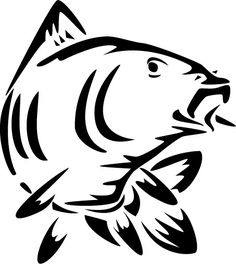 Fish Stencil, Wooden Spoon Crafts, Carp Tattoo, Scroll Saw Patterns Free, Fish Logo, Glass Engraving, Tattoo Stencils, Animal Sketches, Carp Fishing