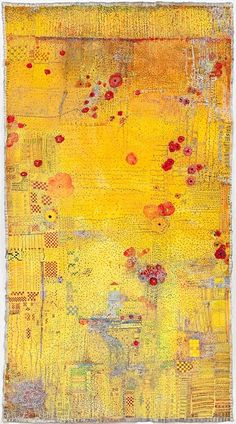 mixed media painting on linen by Huguette Caland. Huguette Caland, Lebanese artist, currently residing in California Impression Textile, Creation Art, Bear Art, Gustav Klimt, Mellow Yellow, Art Plastique, Fabric Art, Mixed Media Art, Textile Art