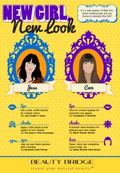 New Girl, New Look #newgirl #infographic #style #beauty