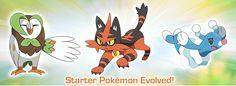 Pokemon Sun and Moon Starter Evolutions Revealed - http://www.gackhollywood.com/2016/10/pokemon-sun-moon-starter-evolutions-revealed/