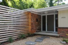 mid century modern front entrance - Google Search