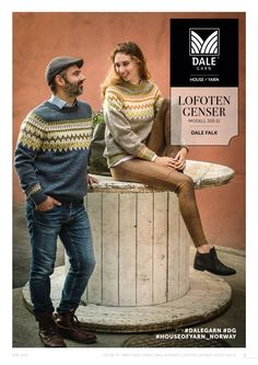 Norwegian unisex pullover sweater knitting pattern from Dale Garn Norwegian Men, Norwegian Knitting, Jumper Knitting Pattern, Fair Isle Knitting Patterns, Pullover Sweaters, Men Sweater, Knitting Sweaters, Retro Men, Lofoten