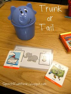 Trunk or Tail - free language/artic game - - Pinned by @PediaStaff – Please visit http://ht.ly/63sNt for all (hundreds of) our pediatric therapy pins
