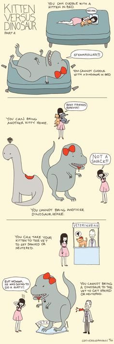 Why kittens are better pets than dinos