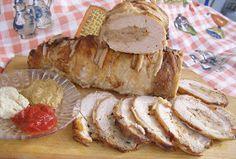 W Mojej Kuchni Lubię.. : pieczony, zawijany schab z mięsem mielonym... Camembert Cheese, Sausage, Pork, Meat, Breakfast, Blog, Projects, Kale Stir Fry, Morning Coffee