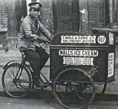 Walls Ice Cream Vendor, c. 1920, London
