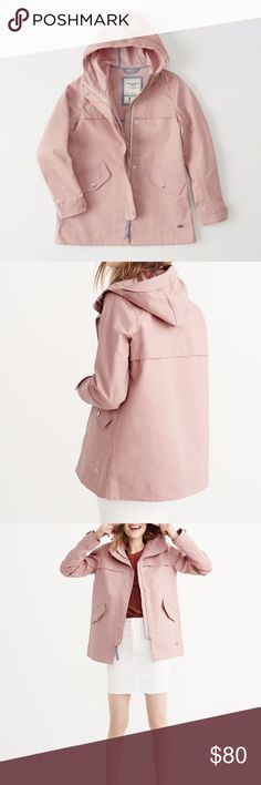 Abercrombie & Fitch Pink classic raincoat Brand new Pink raincoat from Abercrombie & Fitch. Abercrombie & Fitch Jackets & Coats