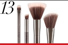 urban decay vegan makeup brushes with recycled handles.