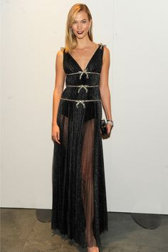 Karlie Kloss wears a Miu Miu dress at the WSJ Innovator Awards.
