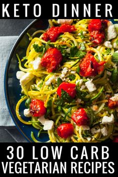 Vegetarian Keto Diet for Beginners This 30-day Vegetarian Keto Meal Plan is perfect if you're new to the ketogenic diet or you're looking for delicious keto recipes to add to your weekly meal plan! With 90 easy breakfast, lunch, and dinner recipes you'll find great tasting low carb vegetarian keto recipes for every meal! I love the zucchini noodles, easy crockpot recipes & dairy-free options! #keto #ketogenic #ketodiet #ketorecipes #ketogenicdiet #mealplan #lowcarb