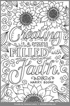 Harry Boone: First Center Yourself Bible Coloring Pages, Cool Coloring Pages, Flower Coloring Pages, Adult Coloring Pages, Coloring Sheets, Coloring Books, Mandala Coloring, Scripture Lettering, Coloring Pages Inspirational