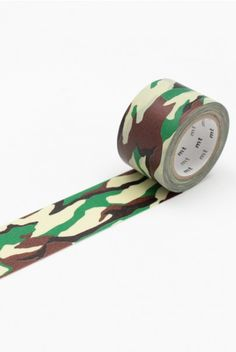 NEW RELEASE WASHI AT NOTEMAKER.COM.AU - MT Japanese Masking Tape - Single Roll - Wide - Camo Green $7.95