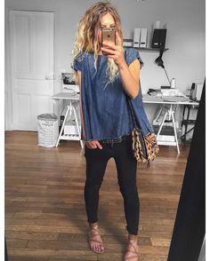 """4,280 mentions J'aime, 49 commentaires - Mélanie Delhaye (@meleponym) sur Instagram : """"Top #laurencebras chez @kidnapull.reims jean #Reiko sur @reiko sac #jeromedreyfuss (old) sandales…"""""""