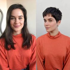 There is Somthing special about women with Short hair styles. I'm a big fan of Pixie cuts and buzzed cuts. Short Pixie Haircuts, Pixie Hairstyles, Pretty Hairstyles, Short Hair Cuts, Shaggy Pixie Cuts, Girl Short Hair, Bridal Hairstyles, Androgynous Haircut, Short Human Hair Wigs