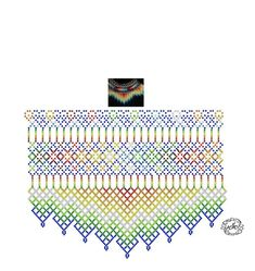 Diy Necklace Patterns, Bead Loom Patterns, Jewelry Patterns, Beading Patterns, Embroidery Patterns, Beading Projects, Beading Tutorials, Fabric Origami, Blackwork Embroidery